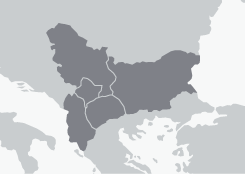 Map of Southeastern Europe